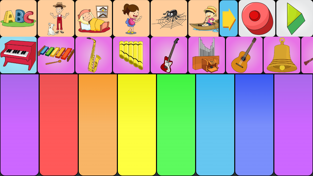Kids piano app- screenshot