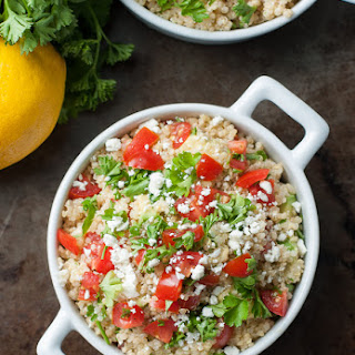 Quinoa Salad with Tomato, Avocado, and Parsley