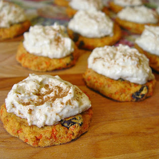 Pineapple Carrot Cakes with Coconut Cashew Frosting