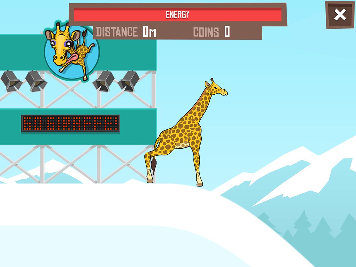 Giraffe Winter Sport Simulator - screenshot