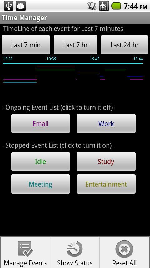 Time Manager - screenshot