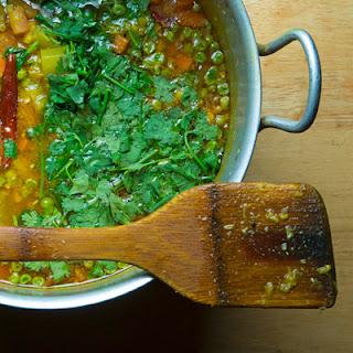 Shobji Dal (Lentils with Vegetables)