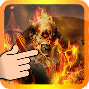 Ghost Rider Clown on Fire LWP