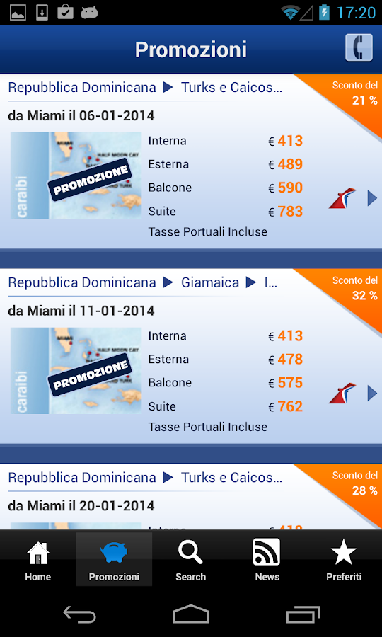 Ticketcarnival - Crociere- screenshot