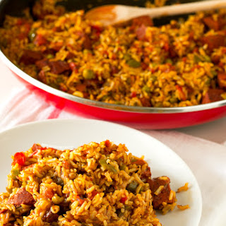 Simple Vegan Spanish Rice with Chorizo