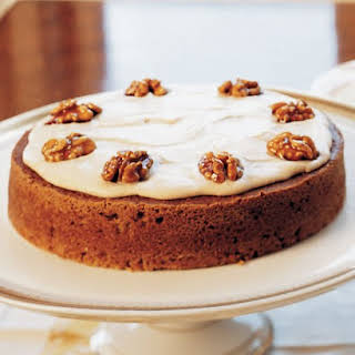Pumpkin Cake with Brown Butter Icing.