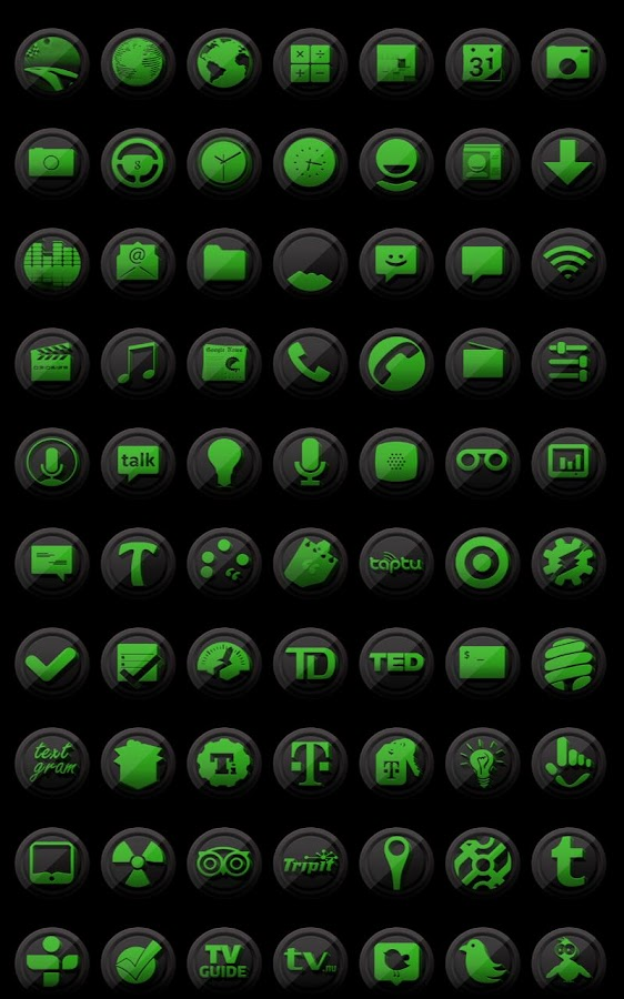 3D Black and Green - Icon Pack- screenshot
