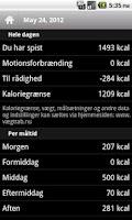 Screenshot of Kalorietæller