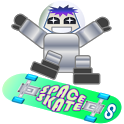 SPACE SKATE skateboarding icon