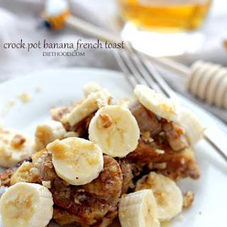 Crock Pot Creamy Banana French Toast