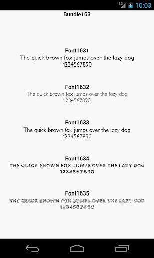 Fonts for FlipFont 163