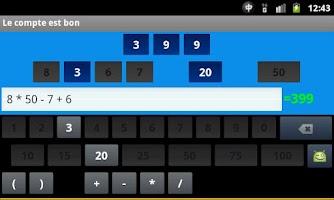 Screenshot of Des chiffres et des lettres