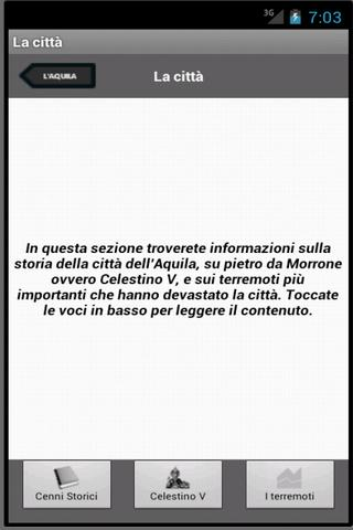 L'Aquila per Android- screenshot