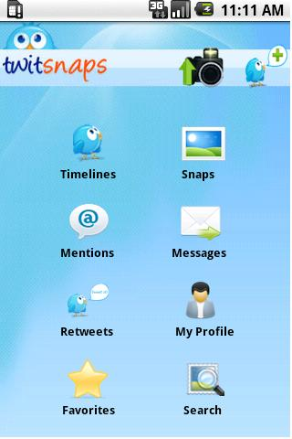Twitsnaps - screenshot