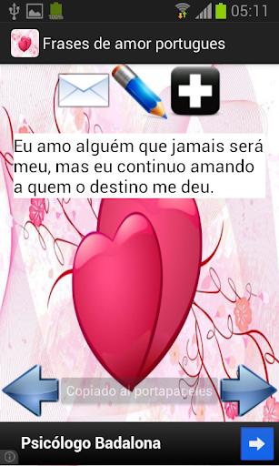 Frases de amor - português