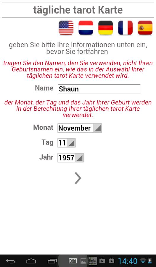 tägliche tarot Karte - screenshot