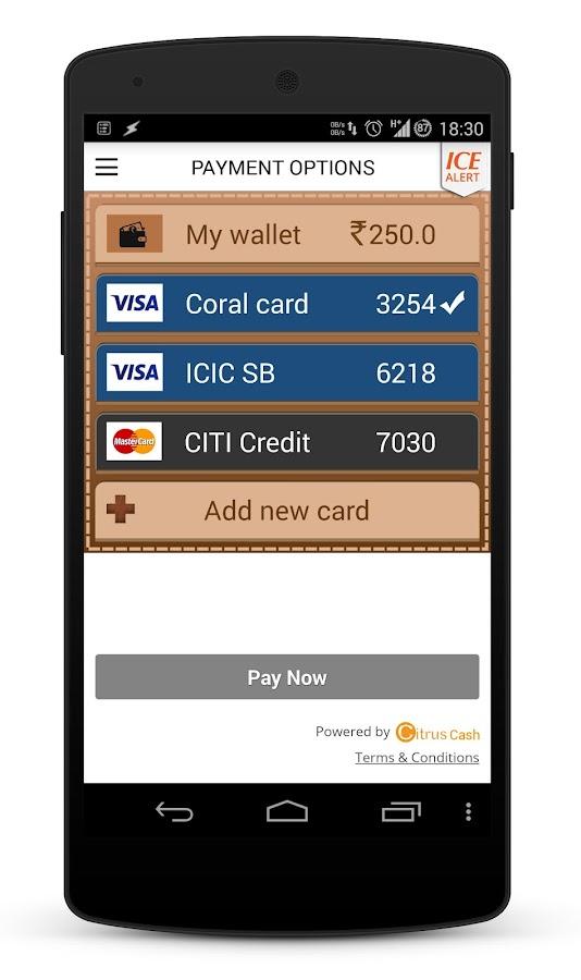 Meru Cabs - screenshot