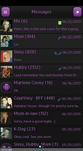GO SMS - Intense Purple