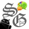 GOSMS SkullGray Theme – Free logo