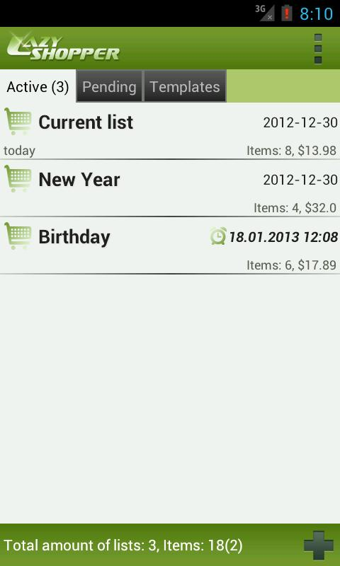 LazyShopper - Shopping List - screenshot