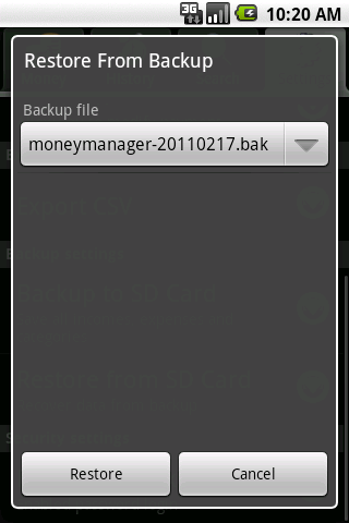 Money Manager - screenshot