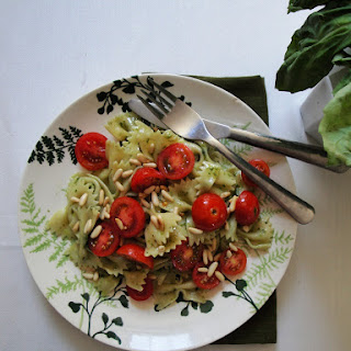 Farfalle With Tomato And Pesto.