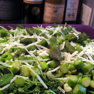 Asparagus, Fava Bean & Pea Shoot Salad
