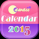 Cawaii Calendar 2015