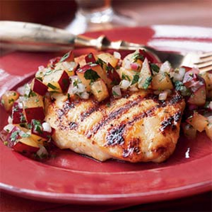 Grilled Chicken Breasts with Plum Salsa Recipe