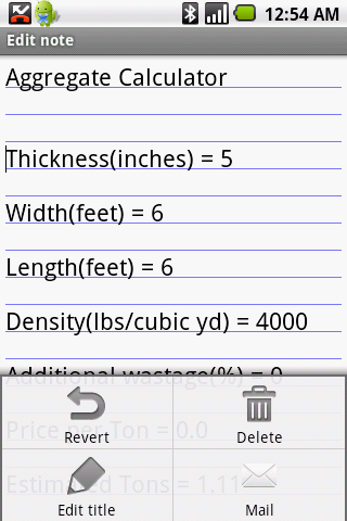 Handyman Calculator Pro (Key) - screenshot