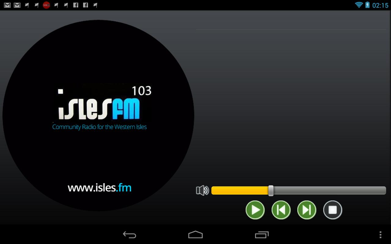IslesFM- screenshot