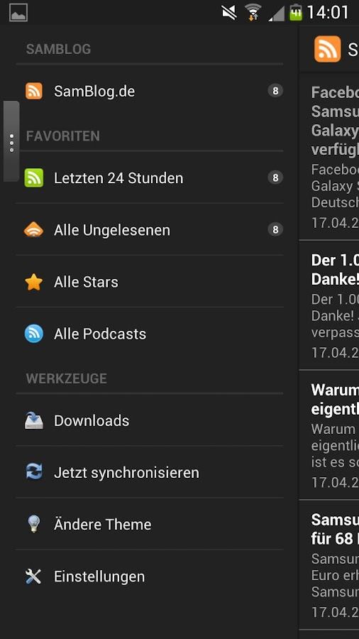 SamBlog.de - screenshot