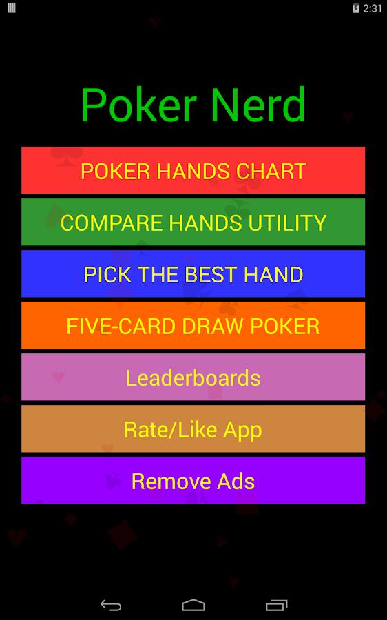 Poker hand options