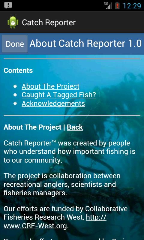Catch Reporter- screenshot
