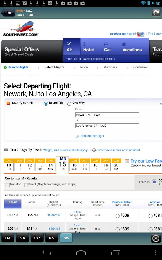 Frugal Flyer w/ Google Flights - screenshot