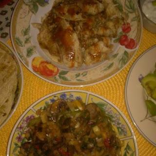 Braised Tilapia Tacos w/Shrimp & Mushroom Salsa.
