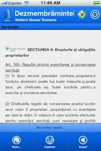 NOUL COD CIVIL: Despre Bunuri- screenshot thumbnail