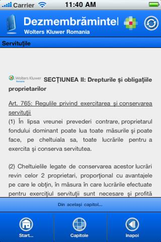 NOUL COD CIVIL: Despre Bunuri- screenshot