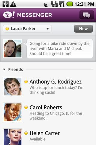 Download Yahoo! Messenger for android devices free