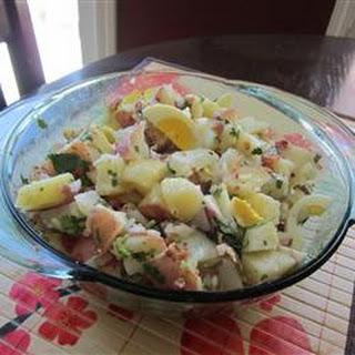 Roasted Potato Salad with Balsamic-Bacon Vinaigrette.