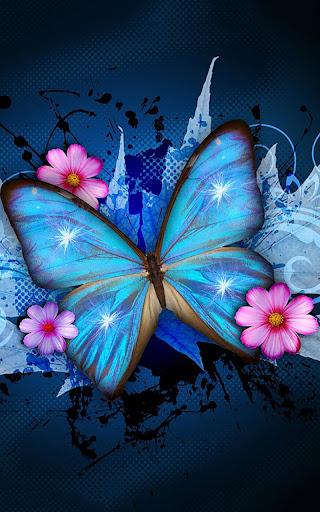 闪亮的蝴蝶动态壁纸
