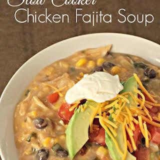 Slow Cooker Creamy Chicken Fajita Soup.