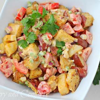Honey Dijon Roasted Potato Salad #BloggerCLUE