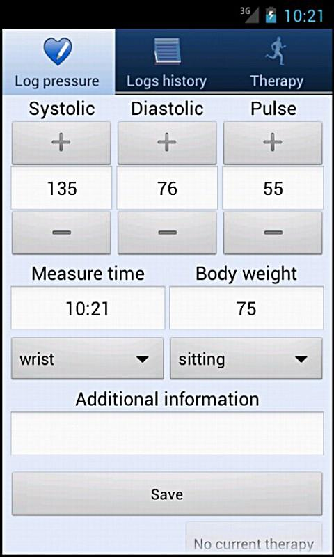 Healthy heart - blood pressure- screenshot