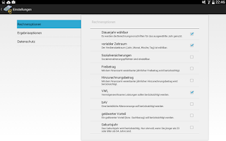Screenshot of Gehaltsrechner  Brutto → Netto