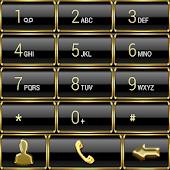 Dialer Frame Gold theme