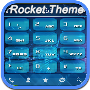 RocketDial Theme Tech Blue 通訊 App LOGO-硬是要APP