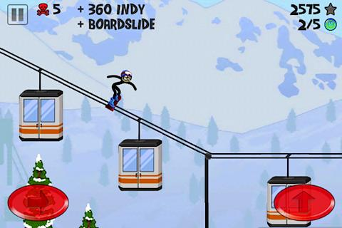 Stickman Snowboarder- screenshot