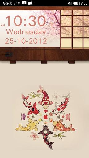 樱花和风时钟小部件