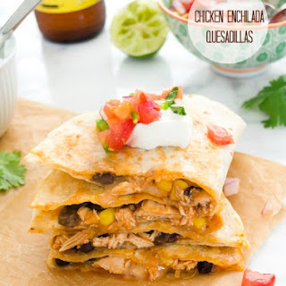 Chicken Enchilada Quesadillas
